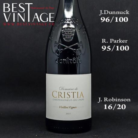 Cristia Châteauneuf-du-Pape Vieilles Vignes 2017 - vin rouge